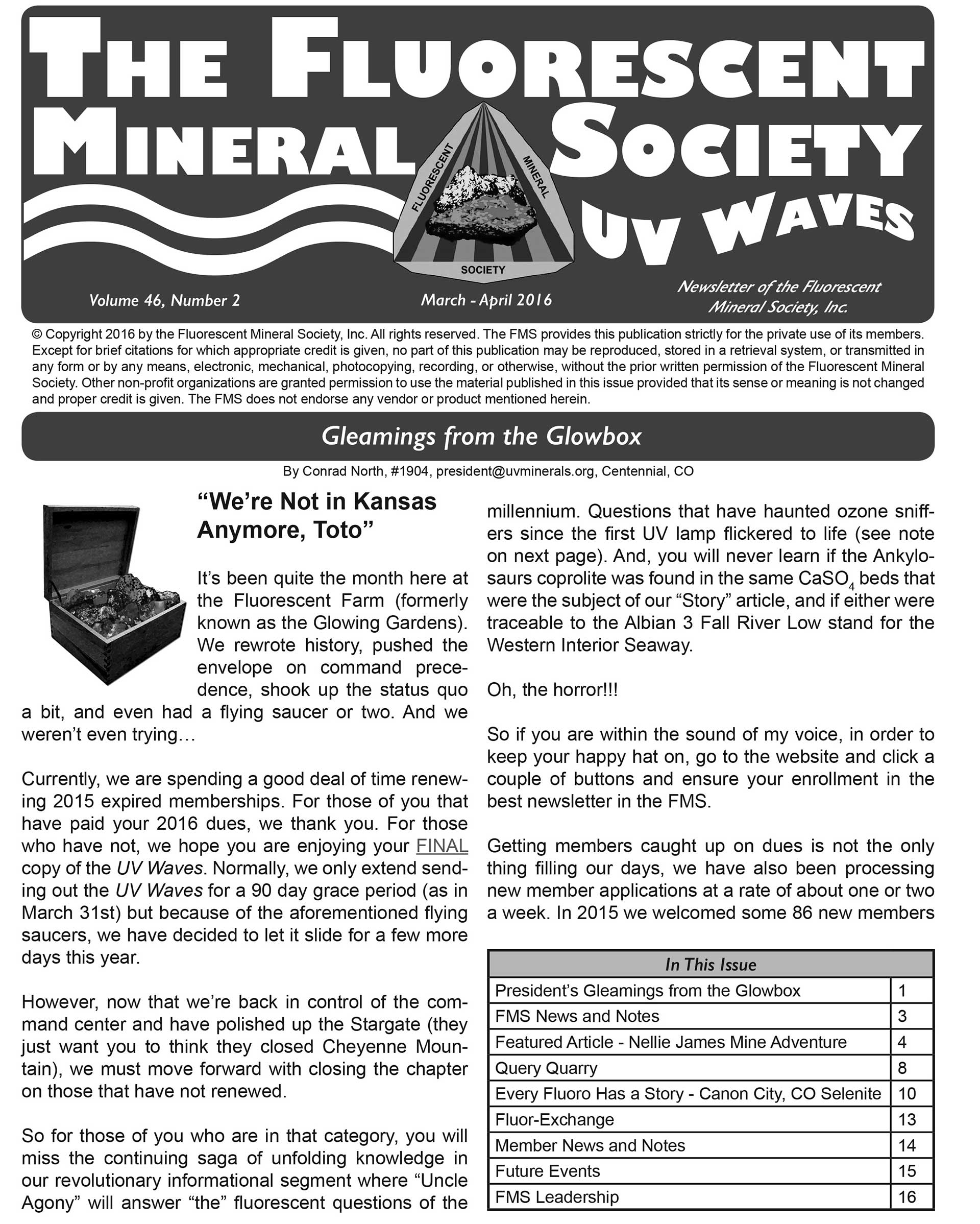 Journal of The Fluorescent Mineral Society 2017-2018 Volume 36
